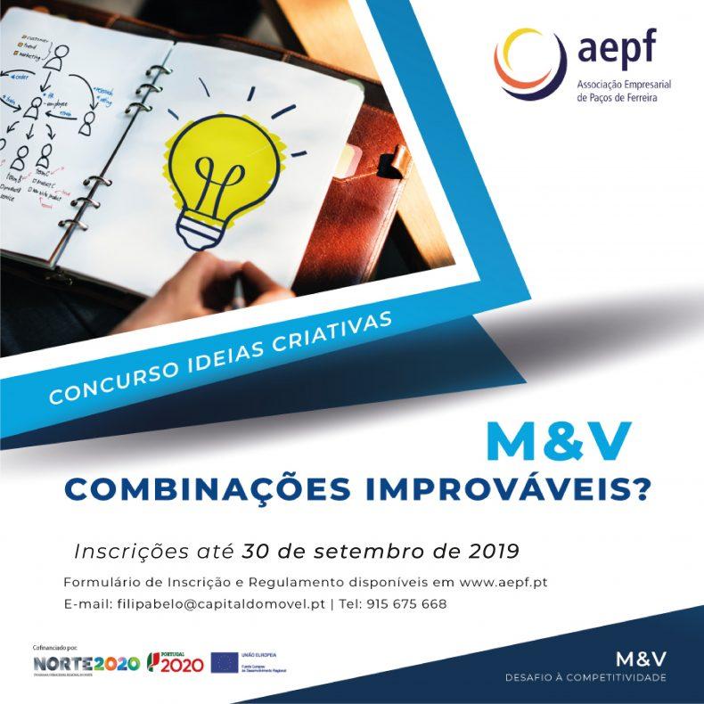 """Concurso de Ideias Criativas """"M&V – Combinações Improváveis?"""" prorroga inscrições"""