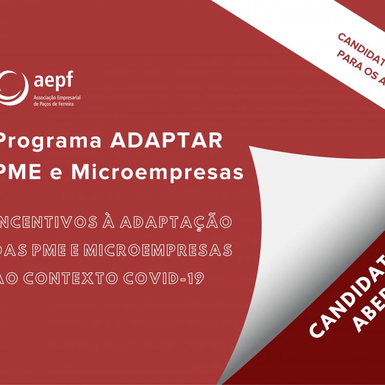 Candidaturas Abertas ao Programa ADAPTAR PME e ADAPTAR Microempresas