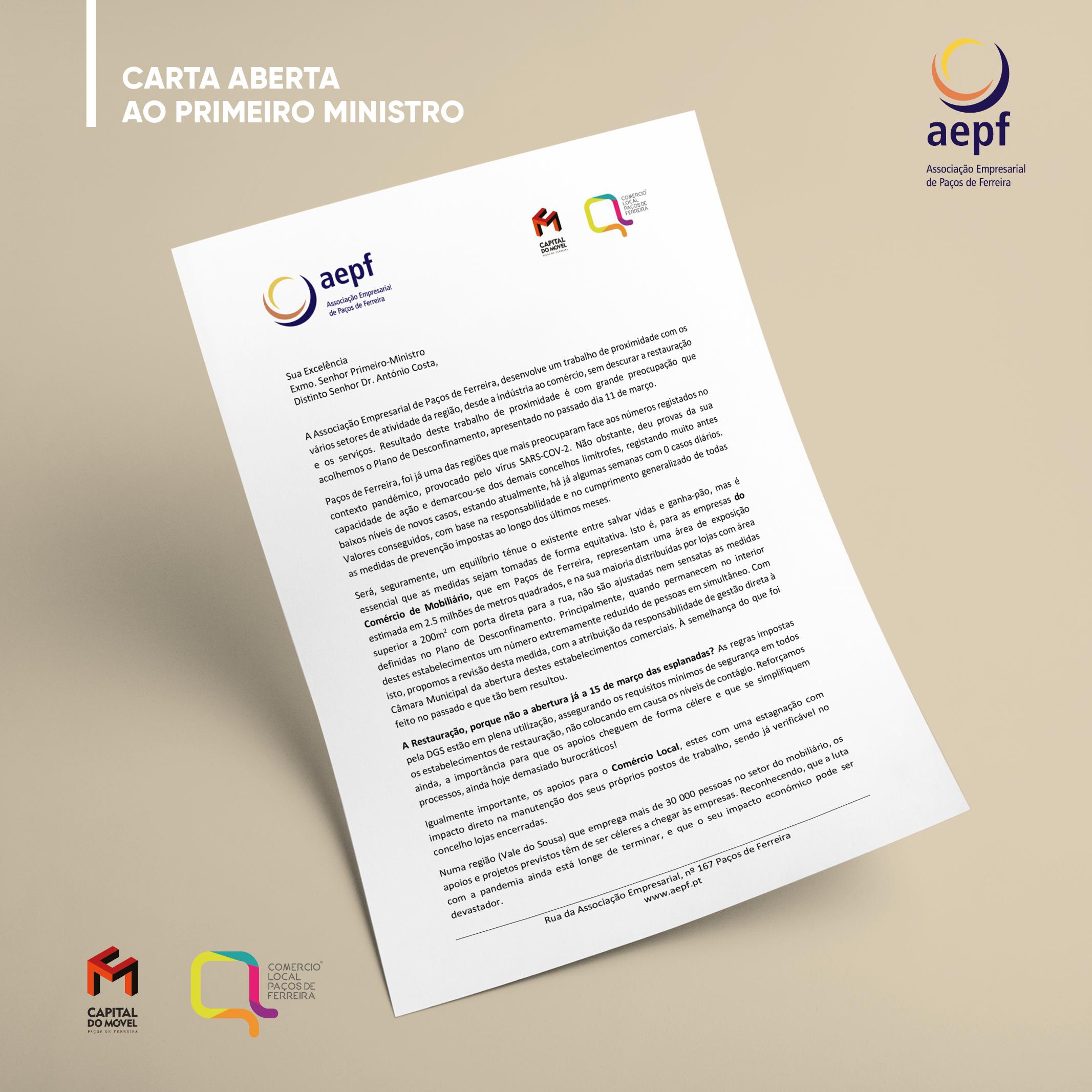 Carta Aberta ao Primeiro Ministro