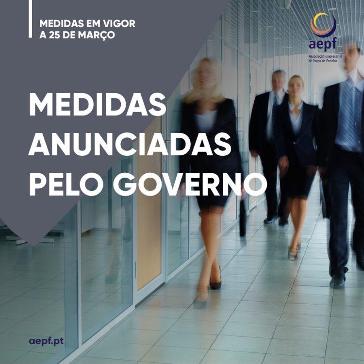 Medidas anunciadas pelo Governo