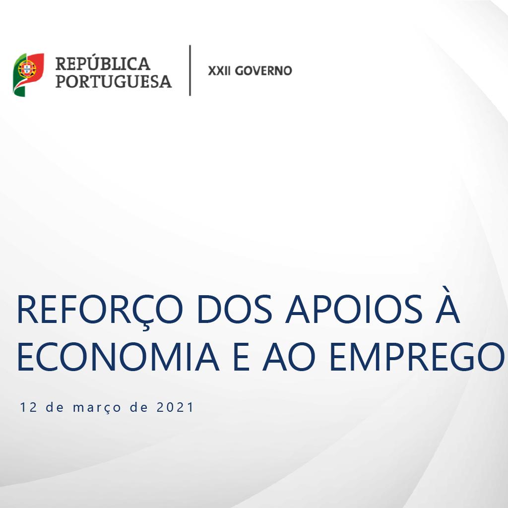 Novas medidas de apoio à economia e ao emprego