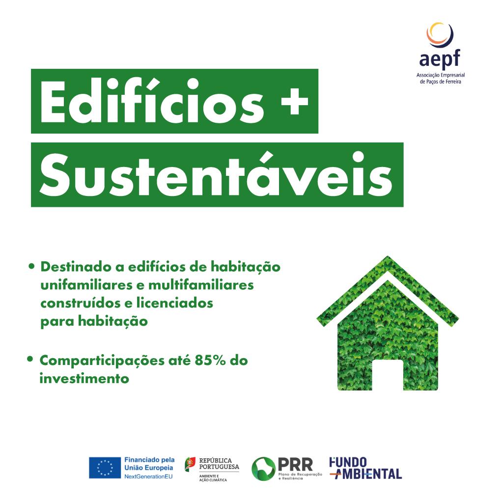Candidaturas abertas Edifícios + Sustentáveis