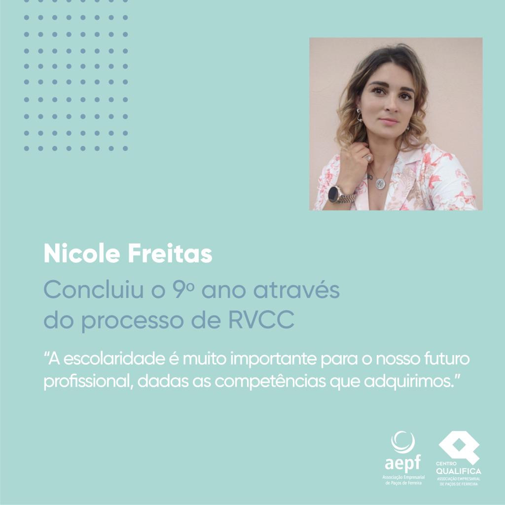 Testemunho Nicole Freitas